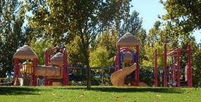 Children's playground at Tierra Bonita Park.