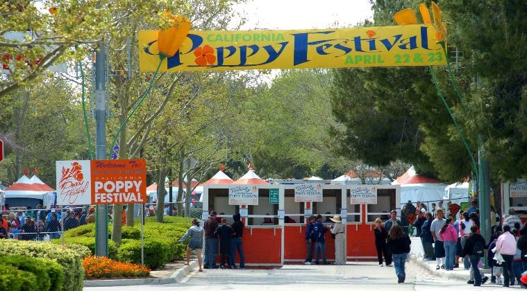 Entrance to Poppy Festival