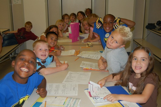 Class of children at the Enrichment Center.