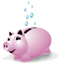 Water Piggy Bank