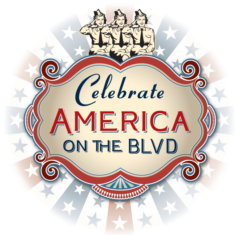 Celebrate America on the BLVD Logo