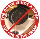Don't pour oil down drain image