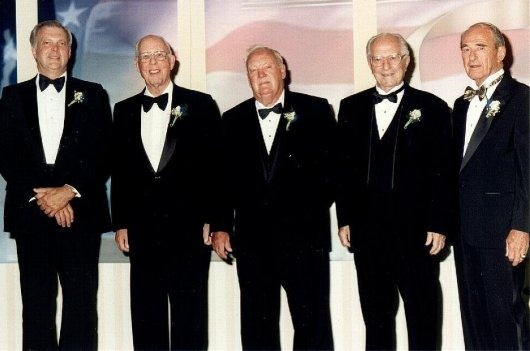 The five 1999 Honorees: Hinds, Meyer, Butchart, Ascani, Schalk.