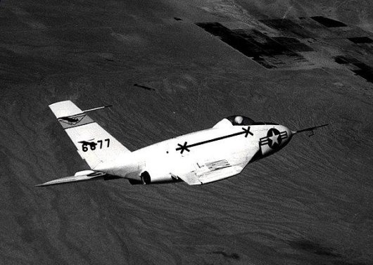 The Northrop X-4 in flight.
