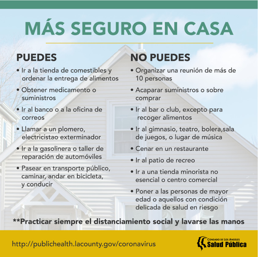 LACDOH-Safer at Home Spanish