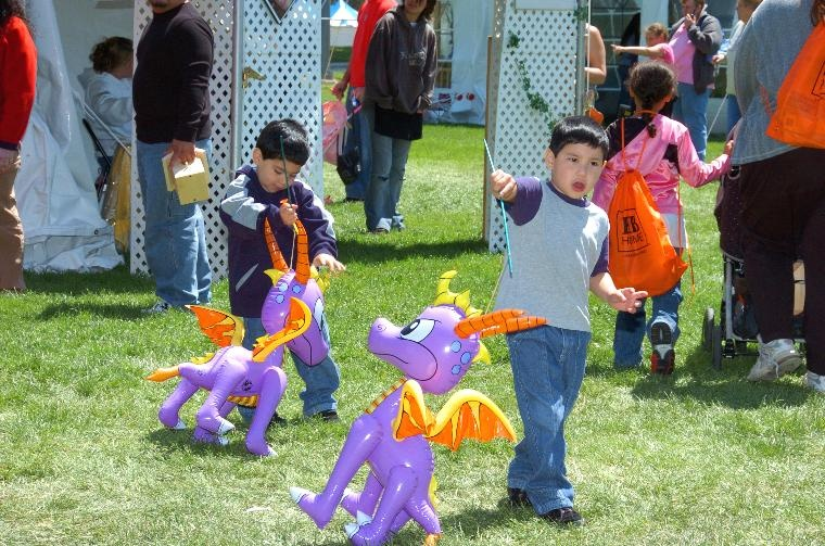Kids with Purple Dragons