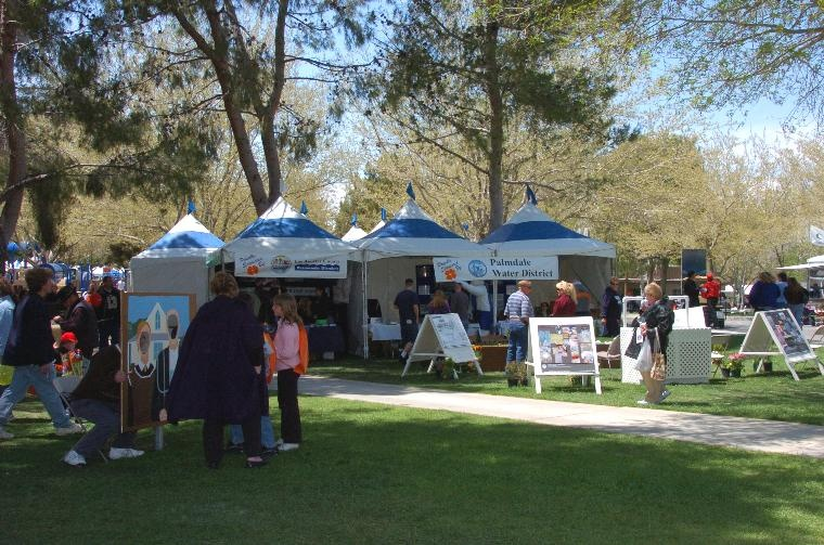 Palmdale Water tent