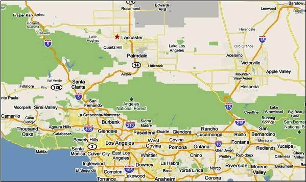 Map Of California 5 Freeway.Maps And Directions City Of Lancaster