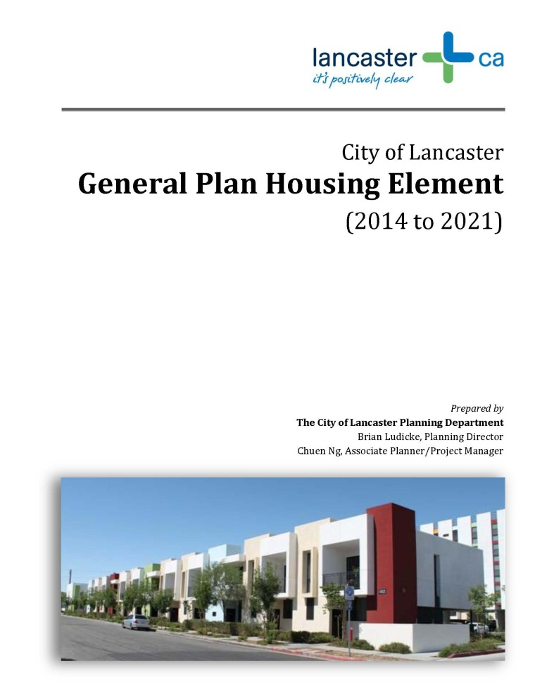 Housing Element Title Page