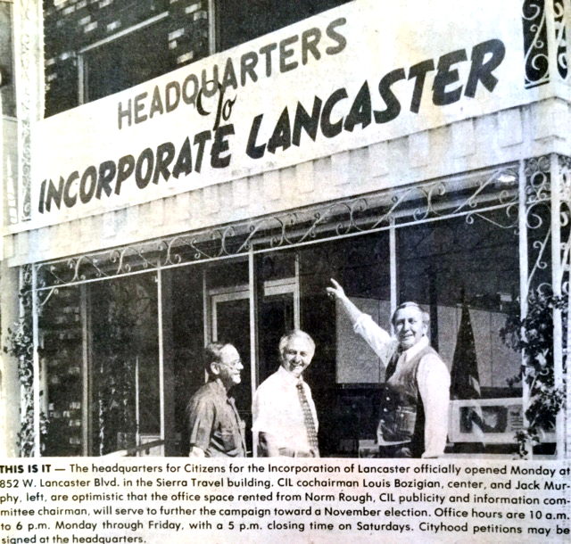 Headquarters of Incorporate Lancaster (Pre-Cityhood)
