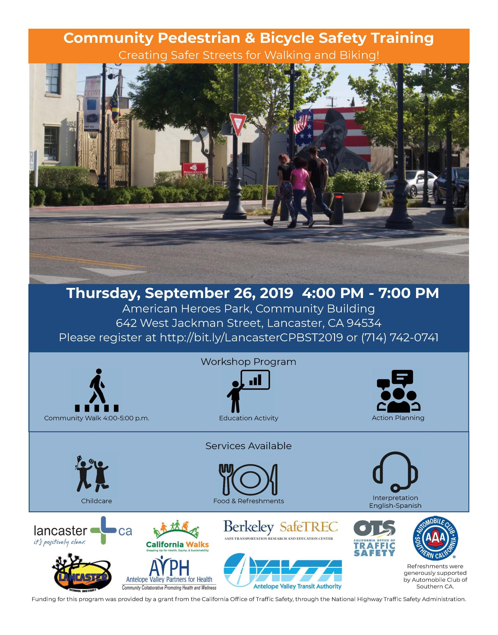 Community Pedestrian & Bicycle Safety Training