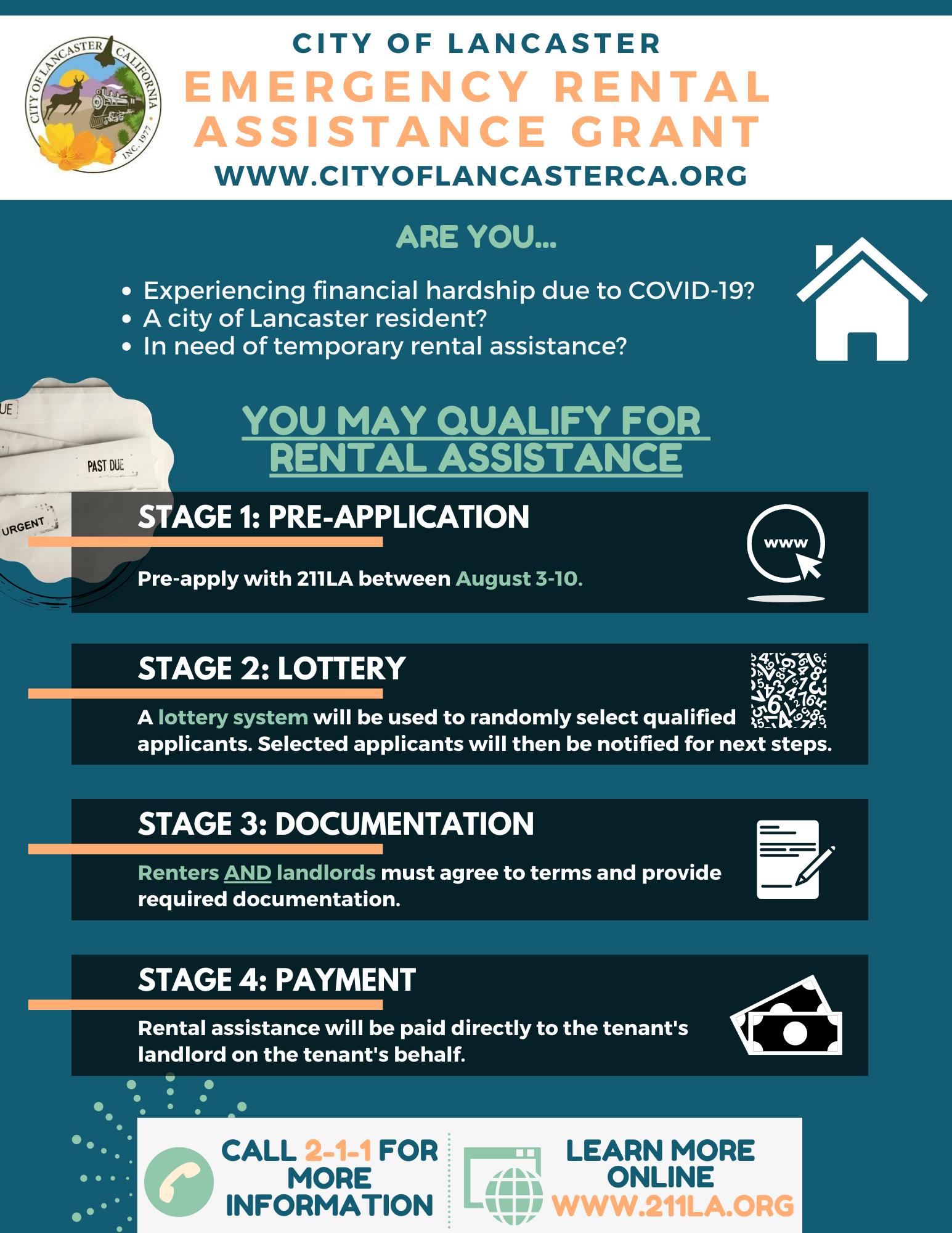 Emergency Rental Assistance Grant Program City Of Lancaster